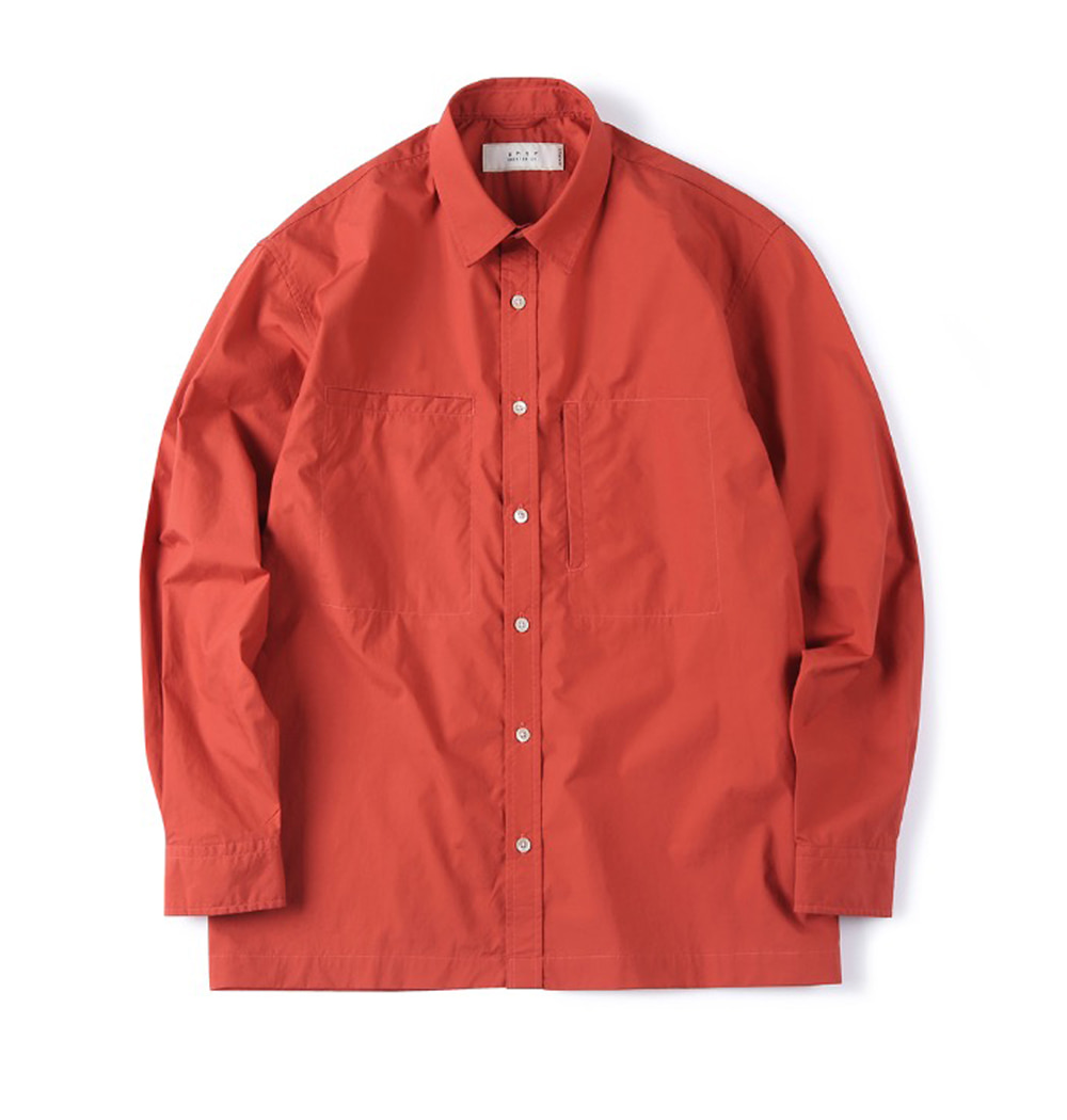 셔터 OVER BOX SHIRT_Deep Red