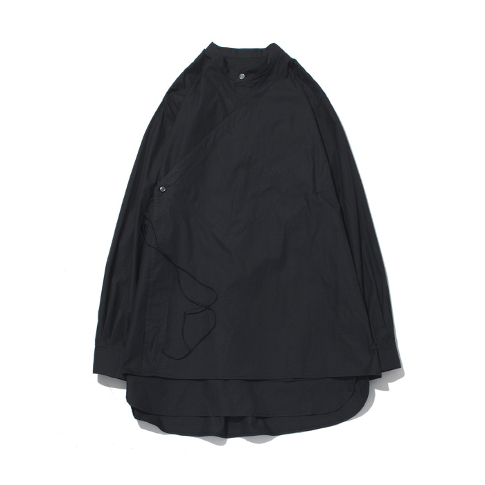 [가쿠로] DOUBLE LAYERED TUNIC SHIRTS (BLACK)