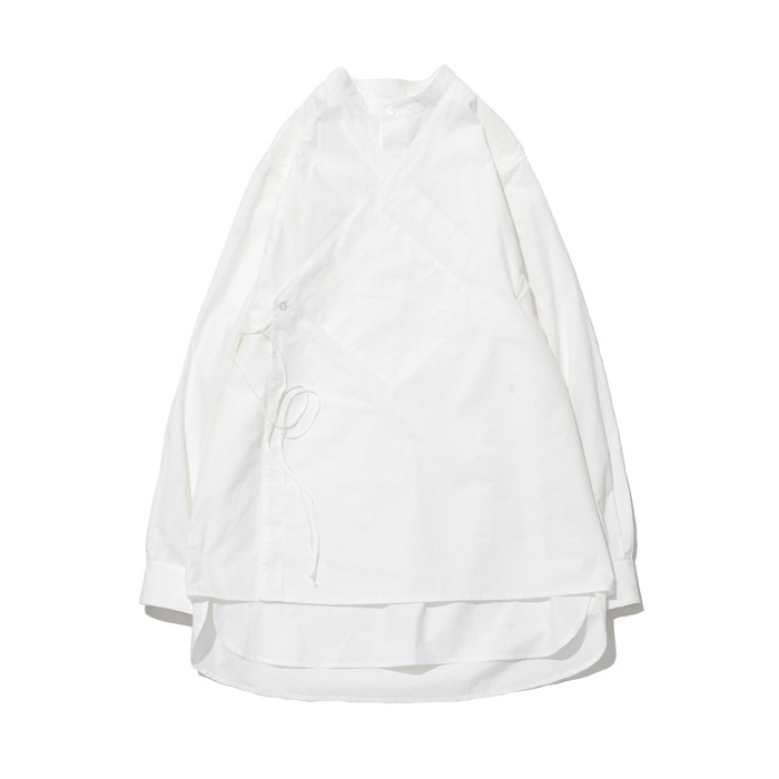 [가쿠로] DOUBLE LAYERED TUNIC SHIRTS (WHITE)