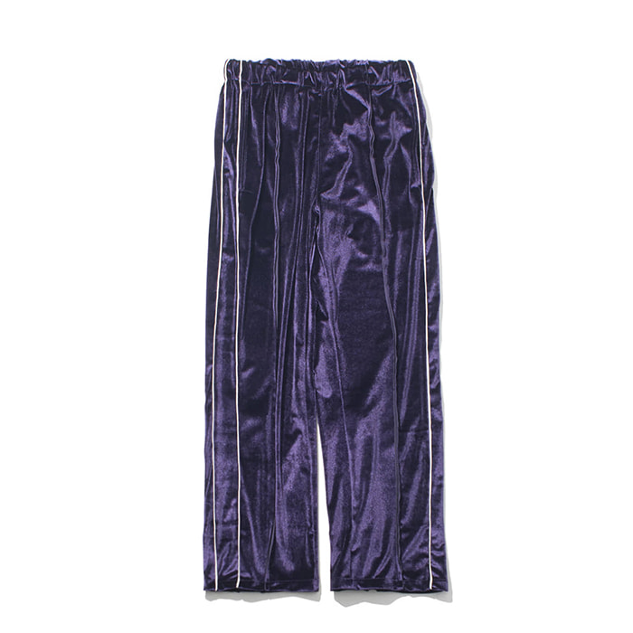 [가쿠로] VELVET SOUVENIR TRACK PANTS (PURPLE)