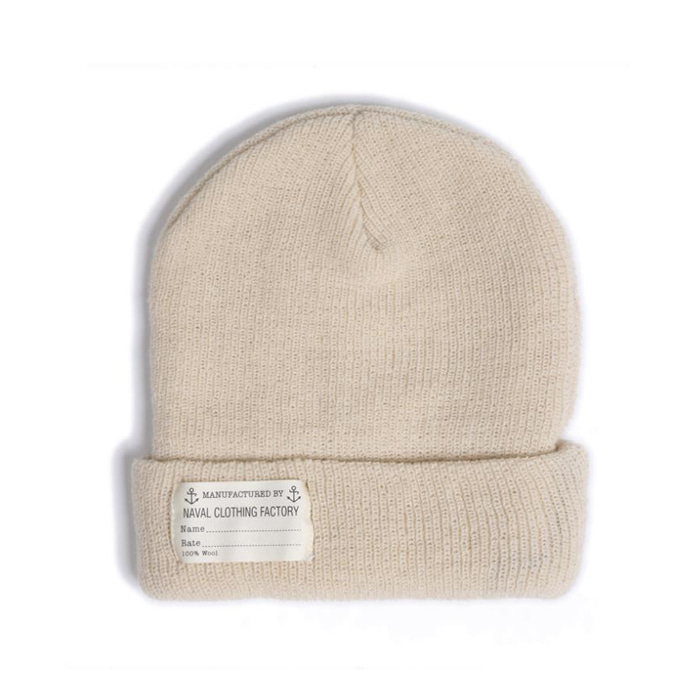 "[YMCL KY] US TYPE Navy Wool Watch Cap ""Natural"""