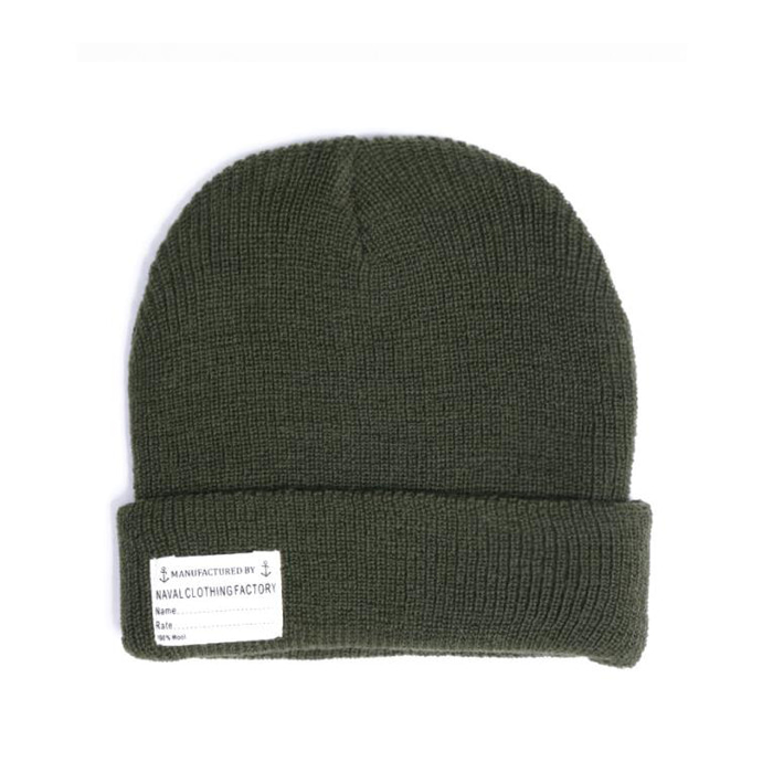 "[YMCL KY] US TYPE Navy Wool Watch Cap ""Olive"""