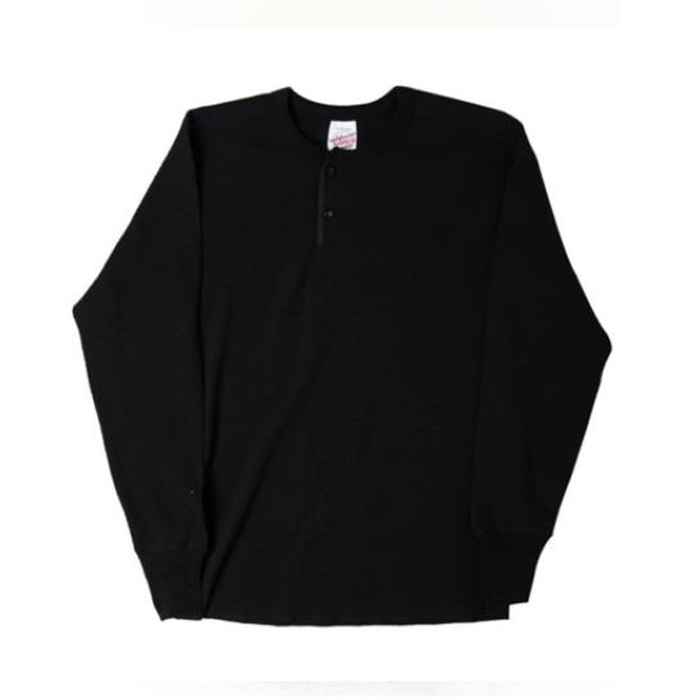 [니들워크] MILLSPEC THERMAL HENLEY SHIRTS(BLACK)