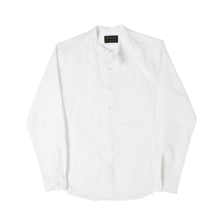 [니들워크] NAVAL BAND COLLAR SHIRTS(OFF WHITE)