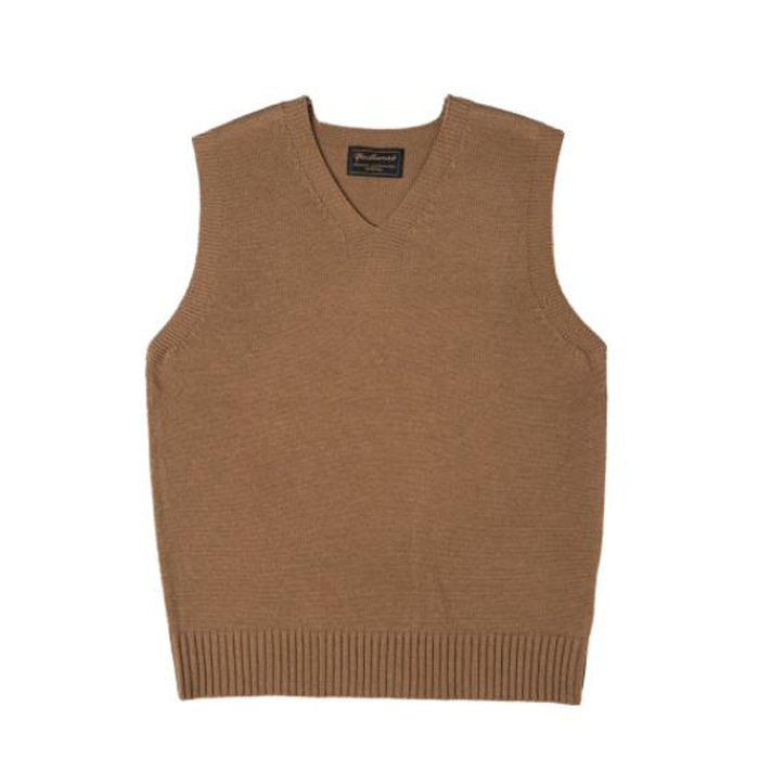 [니들워크] VINTAGE RED CROSS VEST(BEIGE)