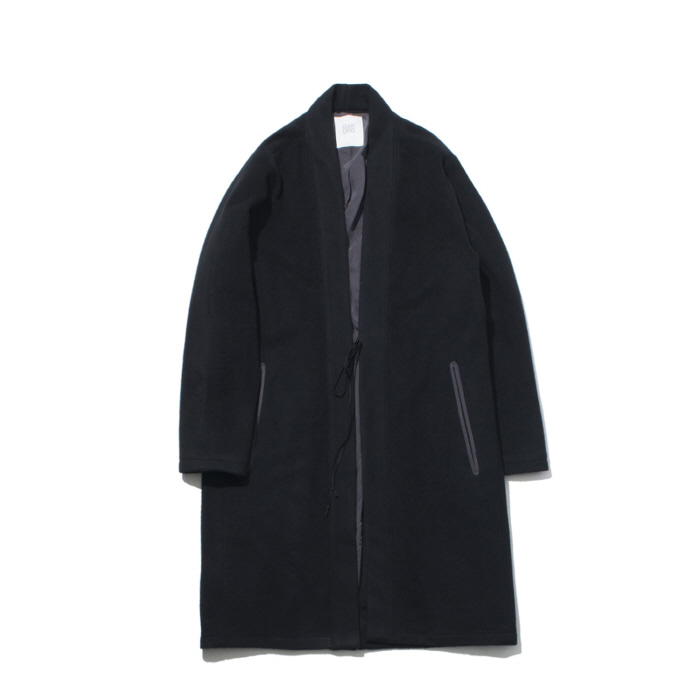 [가쿠로] Oriental wool coat (Black)