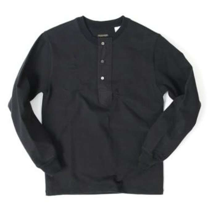 아웃스탠딩 헨리넥 OUTSTANDING LUSTY HENLEY SHIRTS [BLACK]