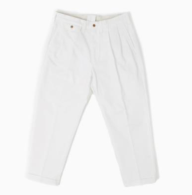 아웃스탠딩 TAPERED CHINO TROUSERS [OFF WHITE]