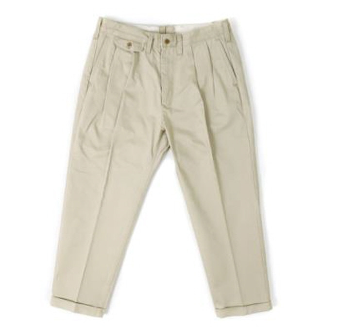 아웃스탠딩 TAPERED CHINO TROUSERS [BEIGE]