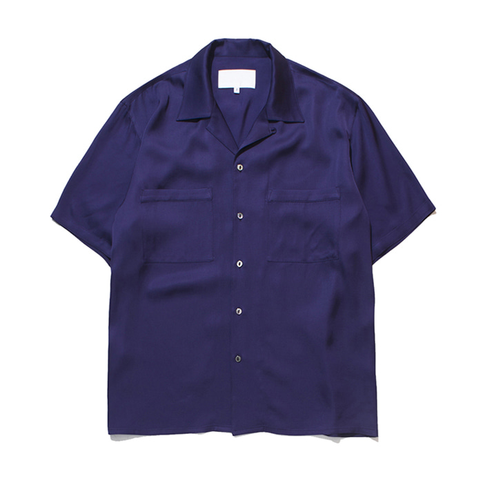 가쿠로 OPEN COLLAR SHIRT VISCOSE_PULPLE