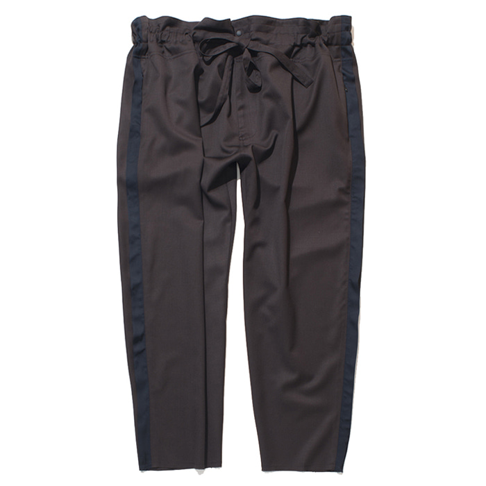 가쿠로 TAPERED WRAP PANTS_BROWN