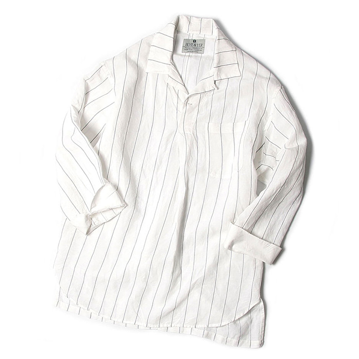 비헤비어 MARINE SHIRTS_WHITE STRIPE