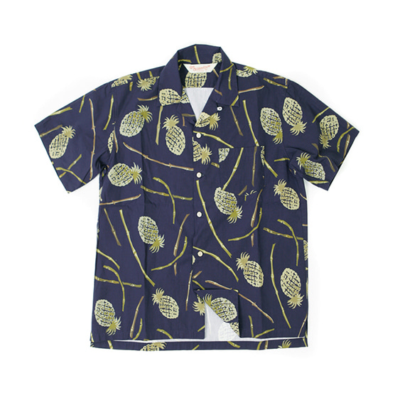 아웃스탠딩 PINEAPPLE HAWAIAN SHIRT_NAVY