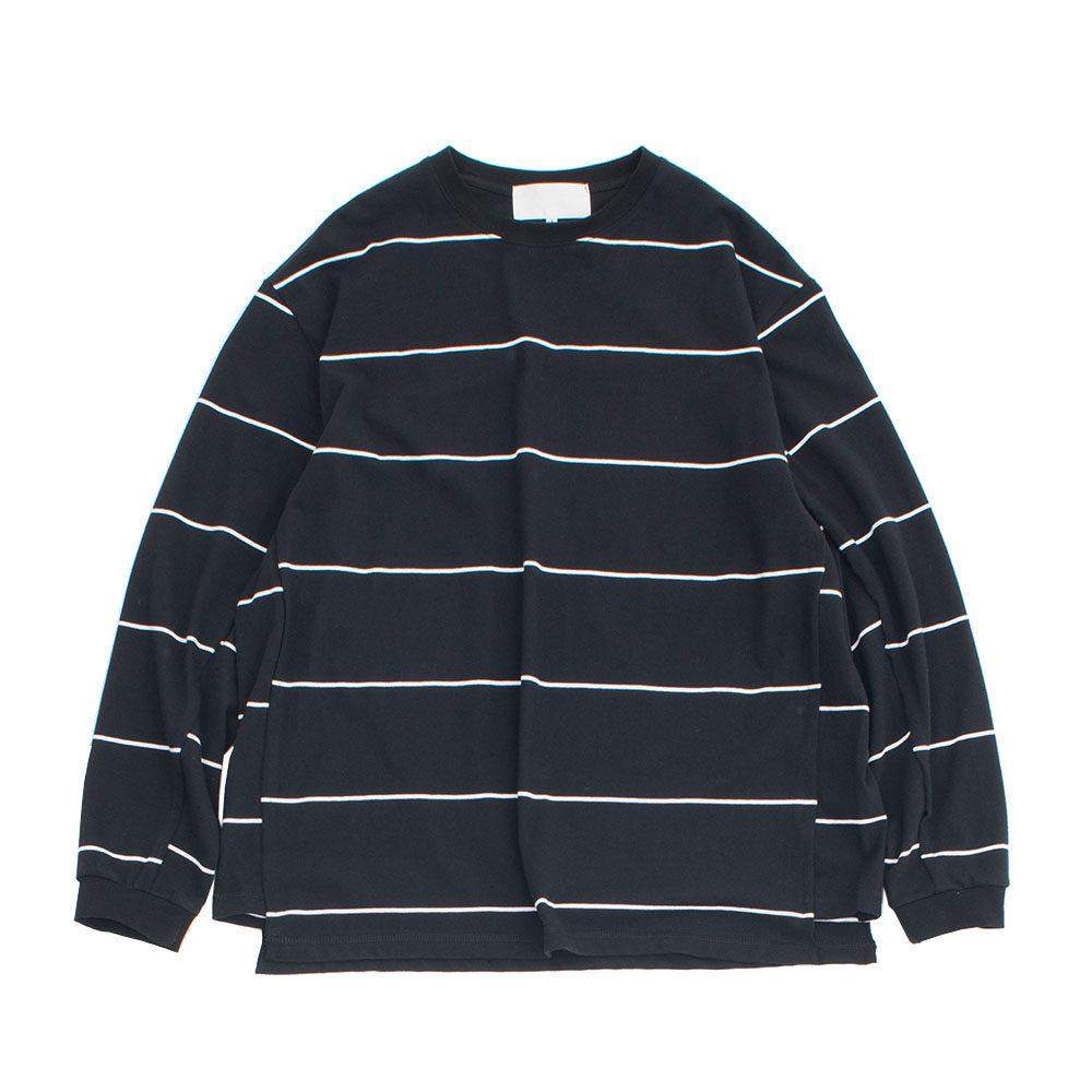 가쿠로 Oversized L/S T-Shirt_Black Stripe