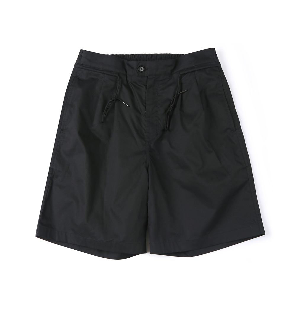 셔터 HARD WASHER COTTON SHORTS_Black