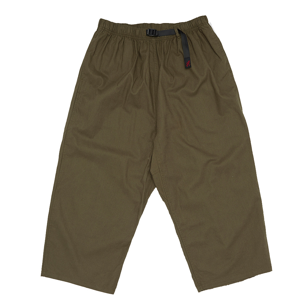 그라미치 LINEN COTTON BALLOON PANTS_Olive