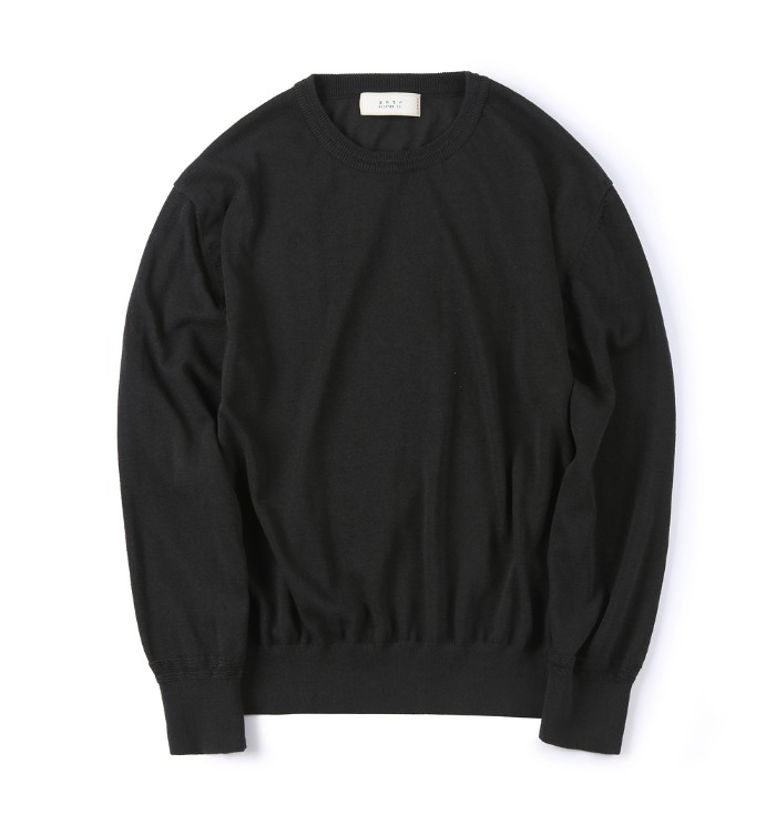 셔터 STURDY LINEN KNIT_Black