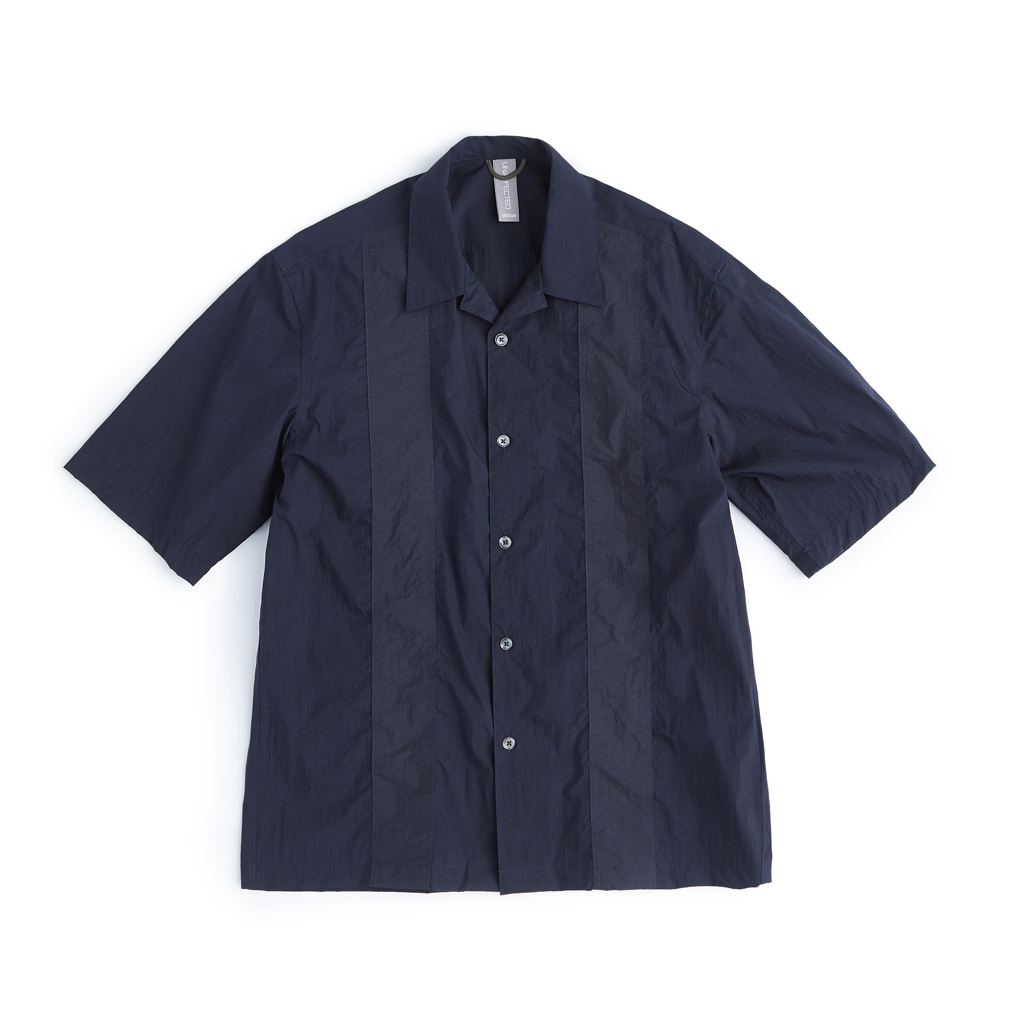 언어펙티드 COLOR BLOCKED SHIRT_Navy