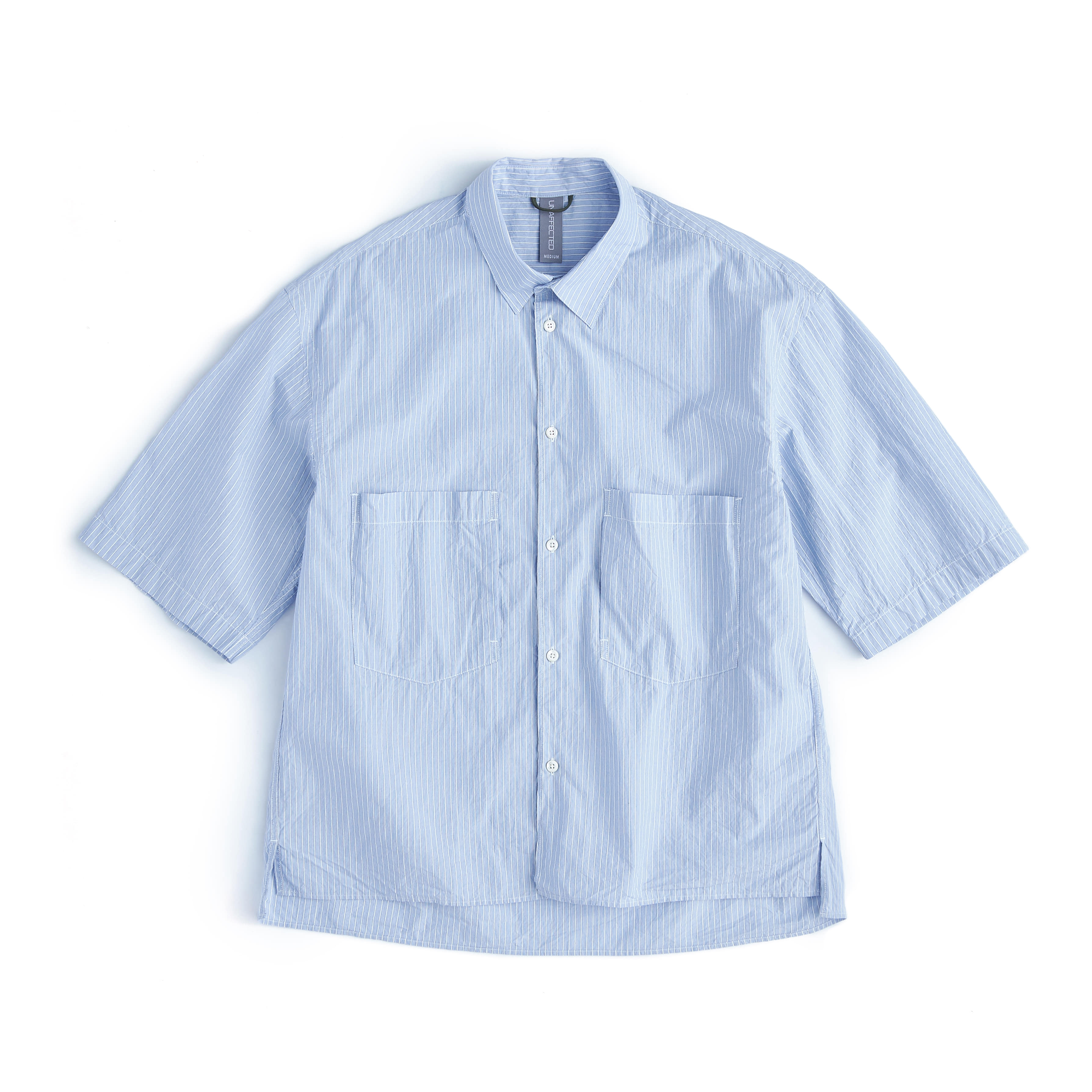 언어펙티드 OVERSIZED HALF SHIRT_Blue Stripe