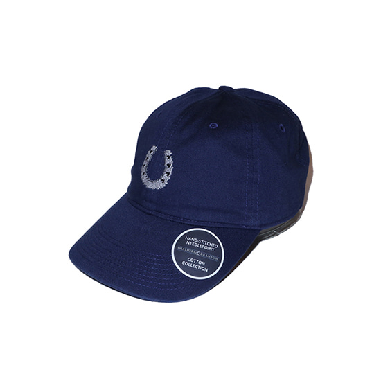 SMATHERS&BRANSON Horseshoe Hat Needlepoint Hat (Navy)