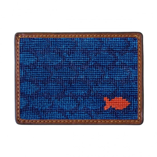 SMATHERS&BRANSON School of Fish Needlepoint Card Wallet