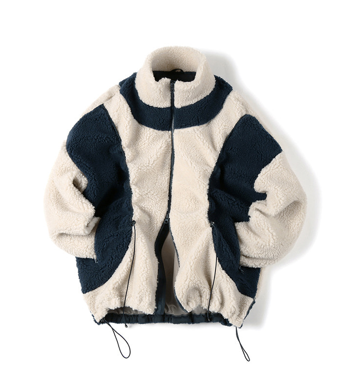 셔터 STRING FLEECE JACKET (Ivory)