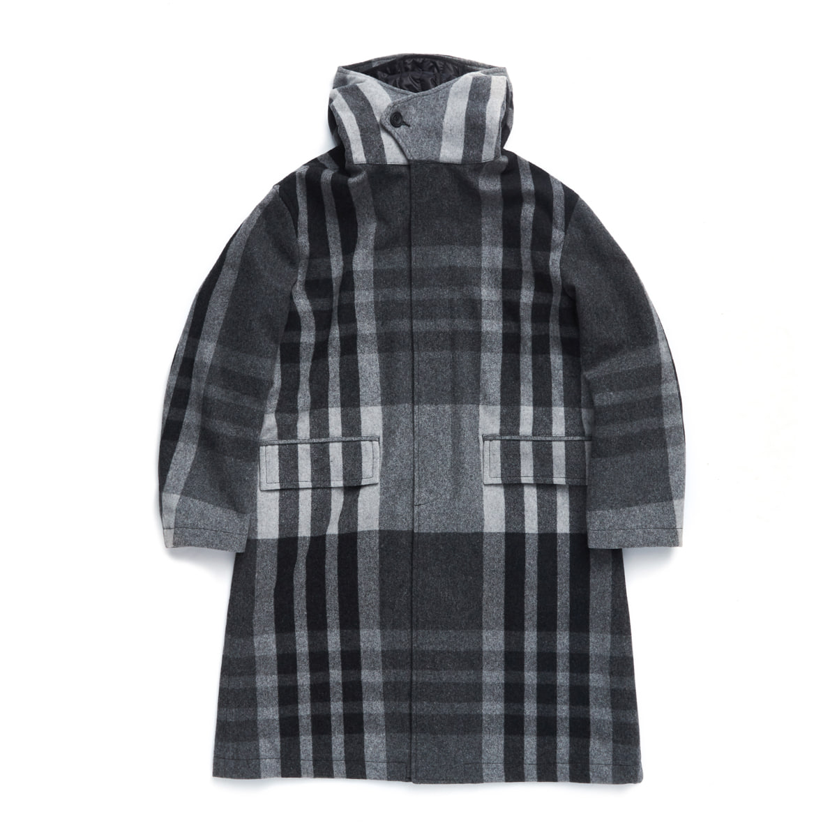 언어펙티드 HOODED COAT (Grey check)