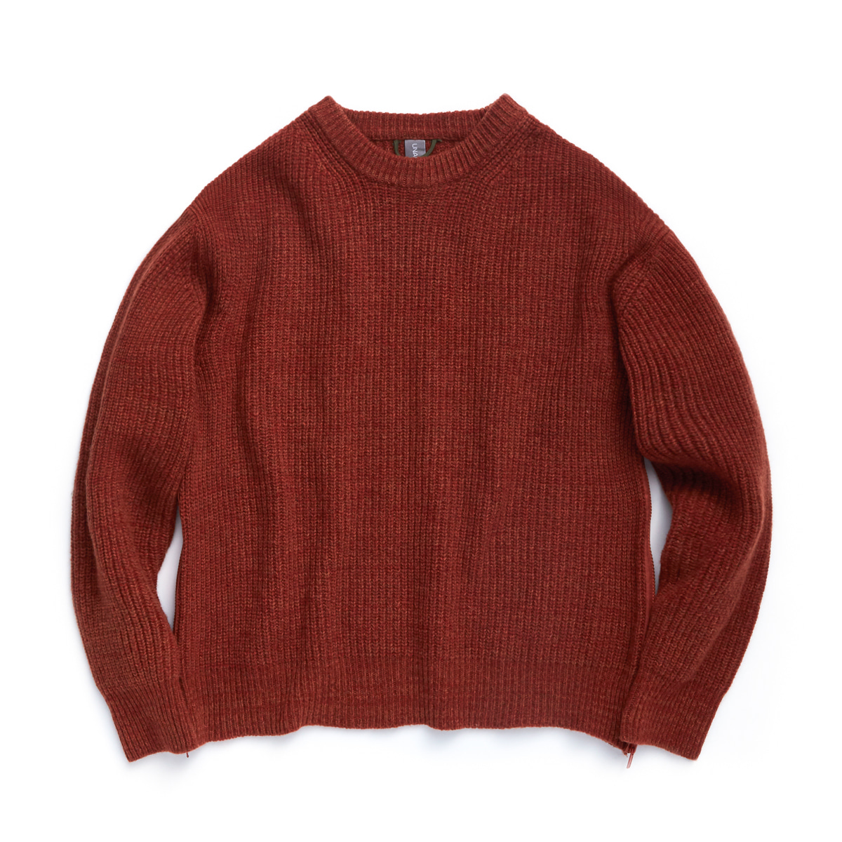 언어펙티드 OVERSIZED CREWNECK KNIT_Burnt Orange Melange