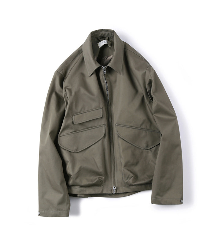 셔터 GABARDINE COTTON ZIP-UP JACKET (Khaki)