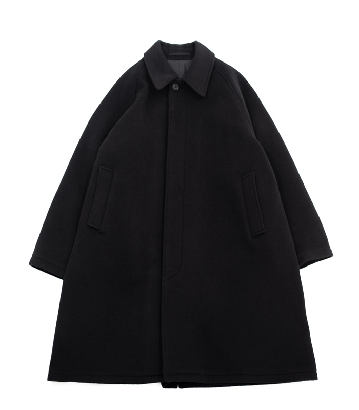 브라운야드 Balmacaan Coat (Black)