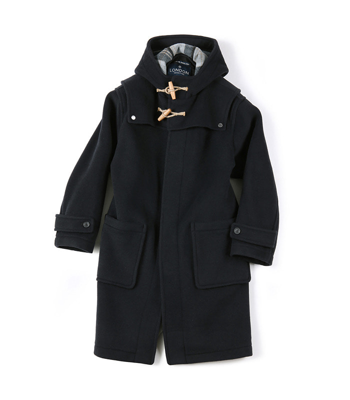 셔터 DETACHABLE DUFFLE COAT [ LONDON TRADITION for SHIRTER ]_Dark navy