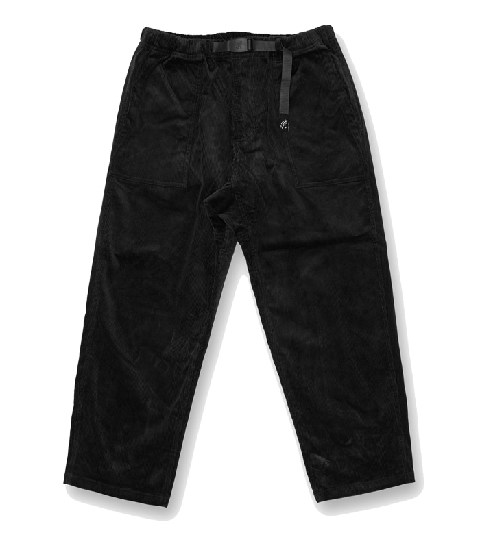 그라미치 CORDUROY LOOSE TAPERED PANTS_Black