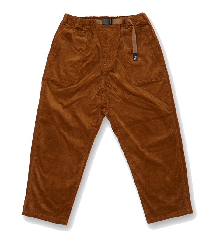 그라미치 CORDUROY LOOSE TAPERED PANTS_Camel