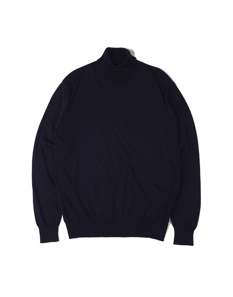 오파츠 Soft roll neck Sweater_Navy