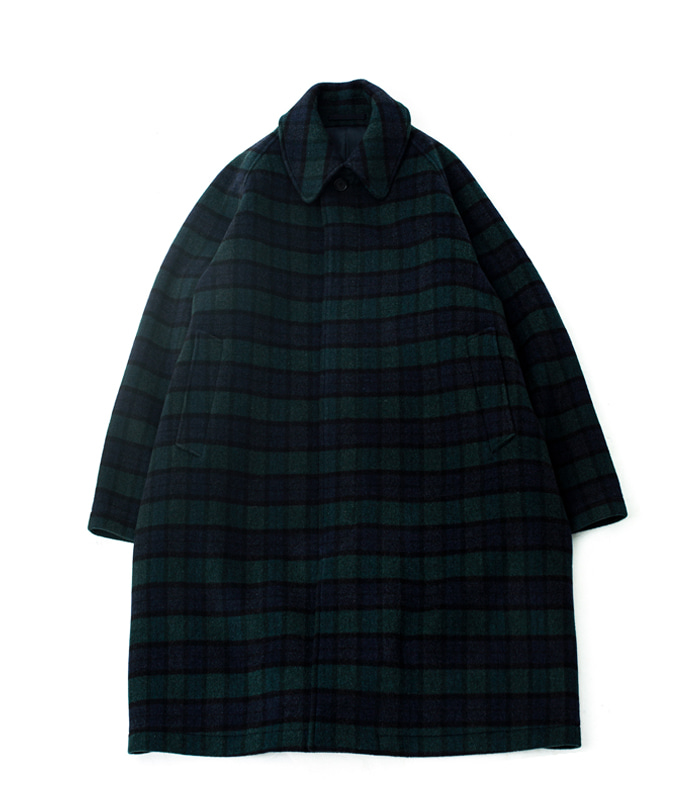 브라운야드 Balmacaan Coat_Black Watch