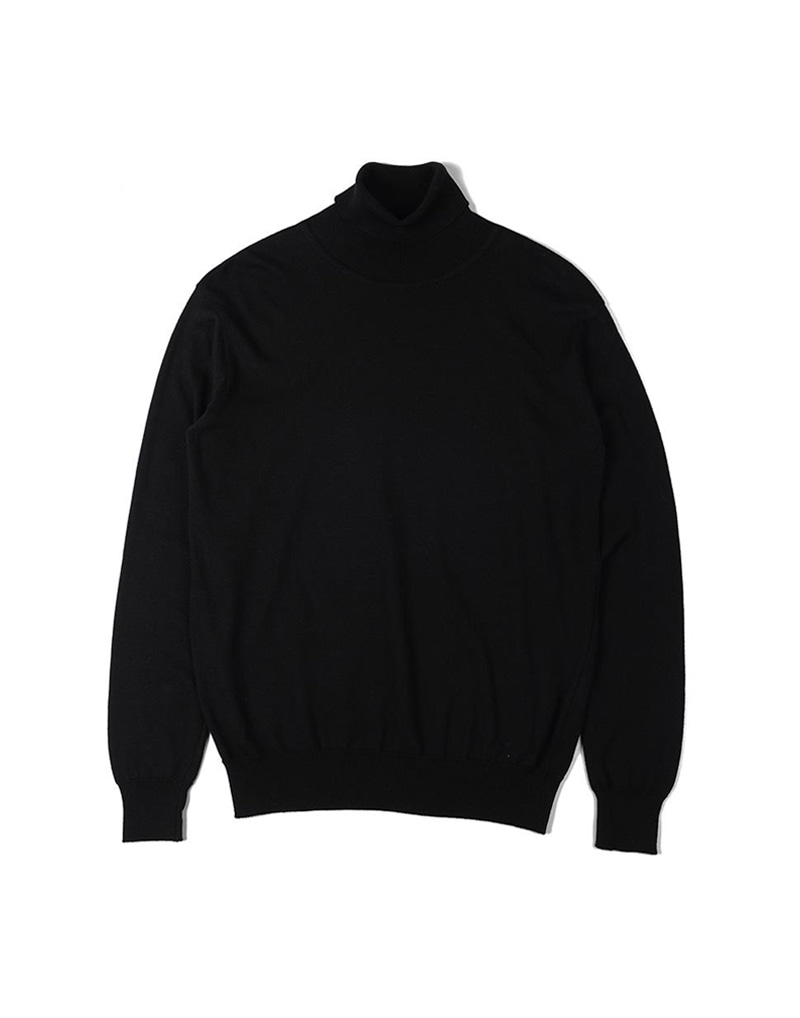 오파츠 Soft roll neck Sweater (Black)