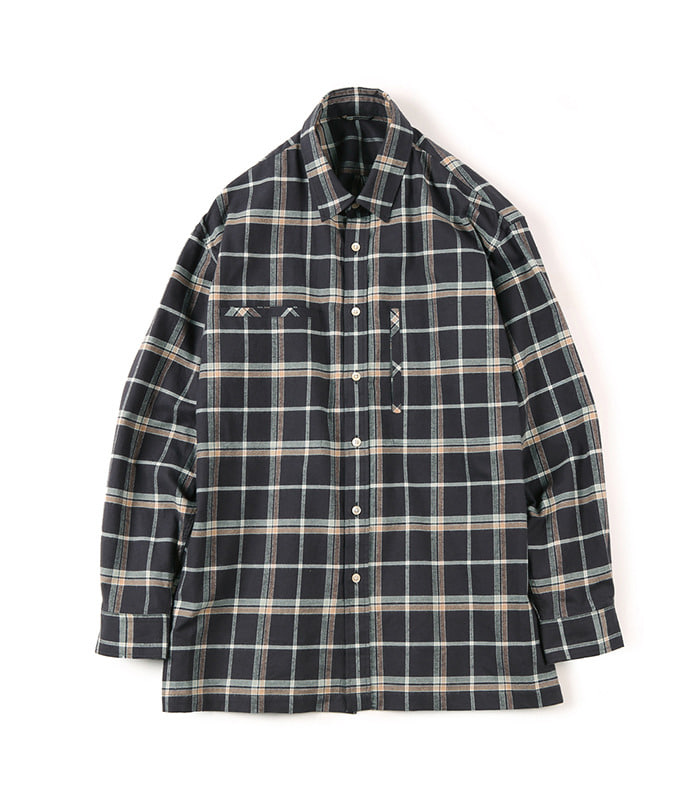 셔터 FLANNEL OVER BOX (Check Brown)