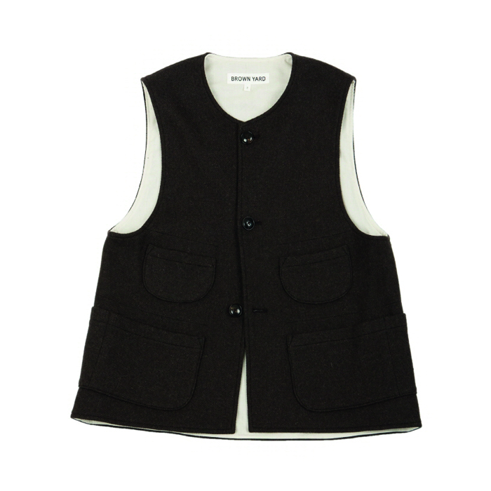 [브라운야드] UTILITY VEST_DARK BROWN