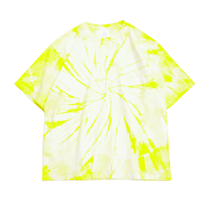 브라운야드 Hand Tie-dye T-shirt_Yellow
