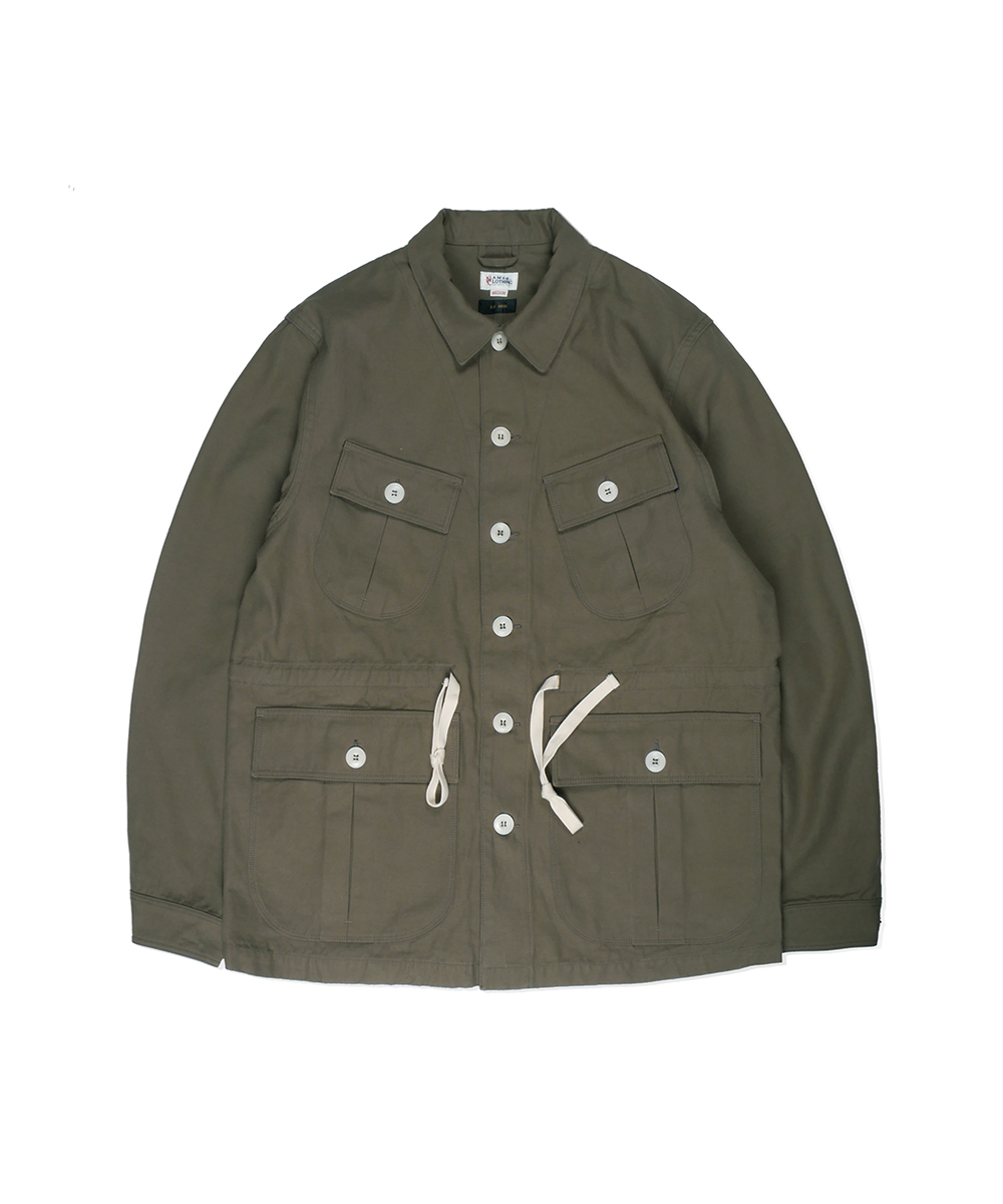 네이머클로딩 BACK SATIN JUNGLE FATIGUE JACKET_Olive