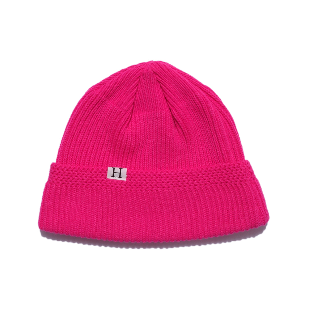 해버대셔리 H LOGO WATCH CAP_S.PINK