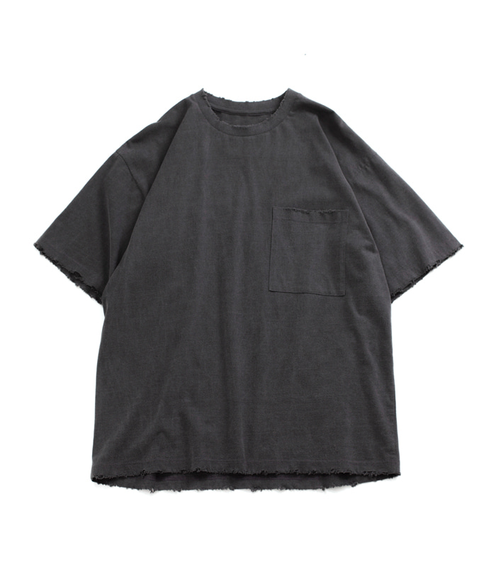 브라운야드 Damage T-Shirt_Grey