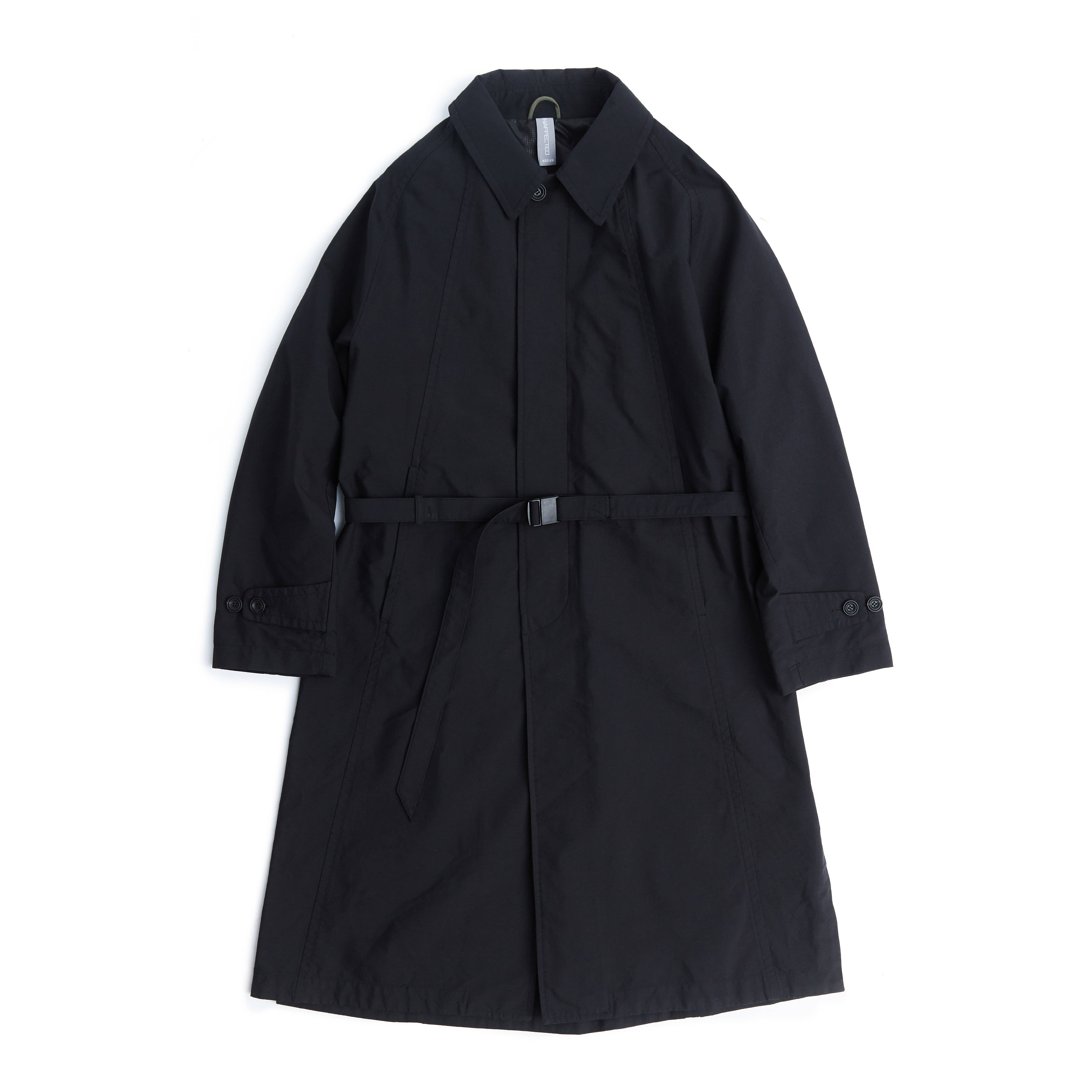 언어펙티드 BELTED SINGLE COAT_Black Cordura
