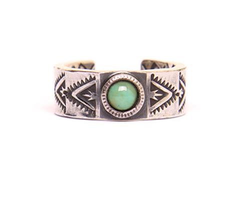 노스웍스  NAVAJO STAMP RING / TURQUOISE TRIANGLE  (N-224)