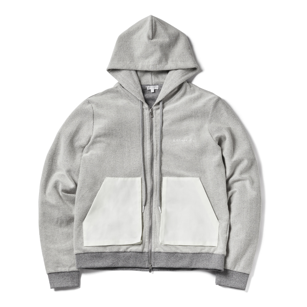 에이카화이트 GARY ZIP UP HOOD_Grey