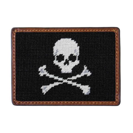 SMATHERS&BRANSON_Jolly Roger Needlepoint Card Wallet