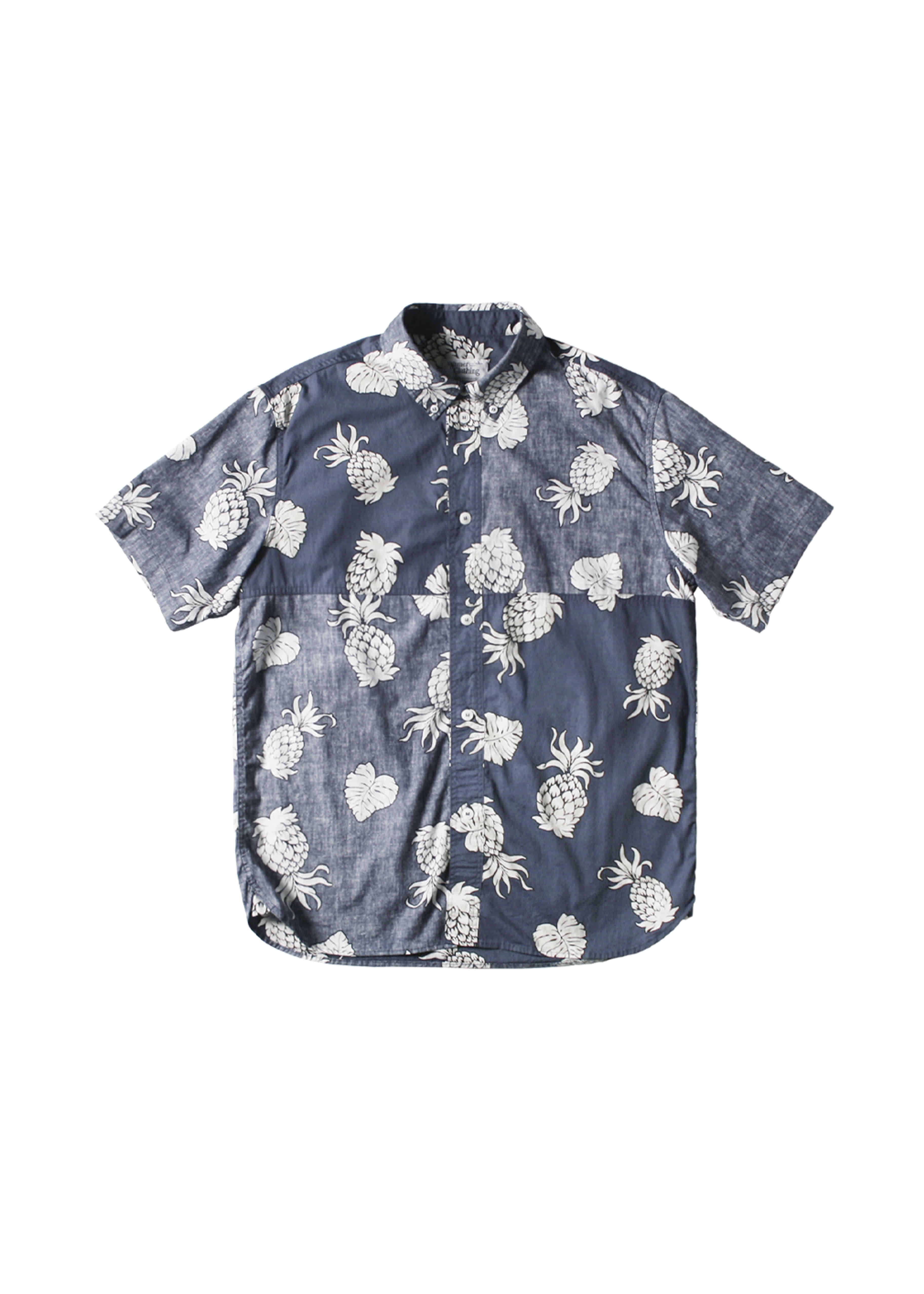 네이머클로딩 REVERSED PINEAPPLE SHIRTS_Navy
