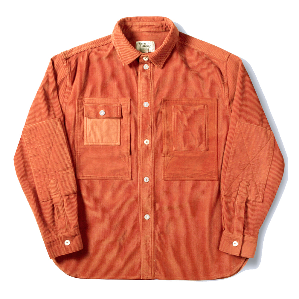 네이머클로딩 CORDUROY UTILITY SHIRTS_Orange