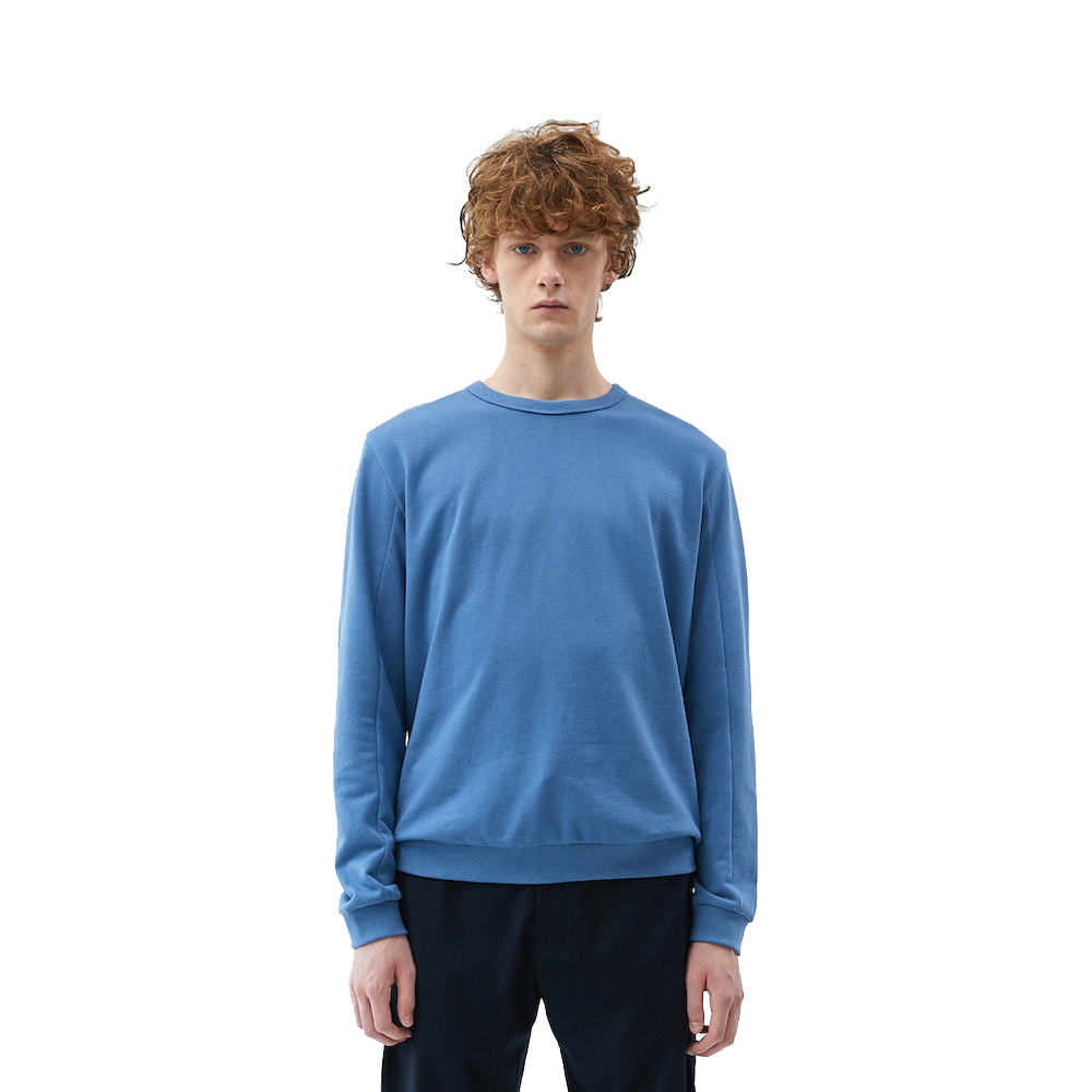 에이카화이트 FINEST COTTON SWEATSHIRT_Blue stone