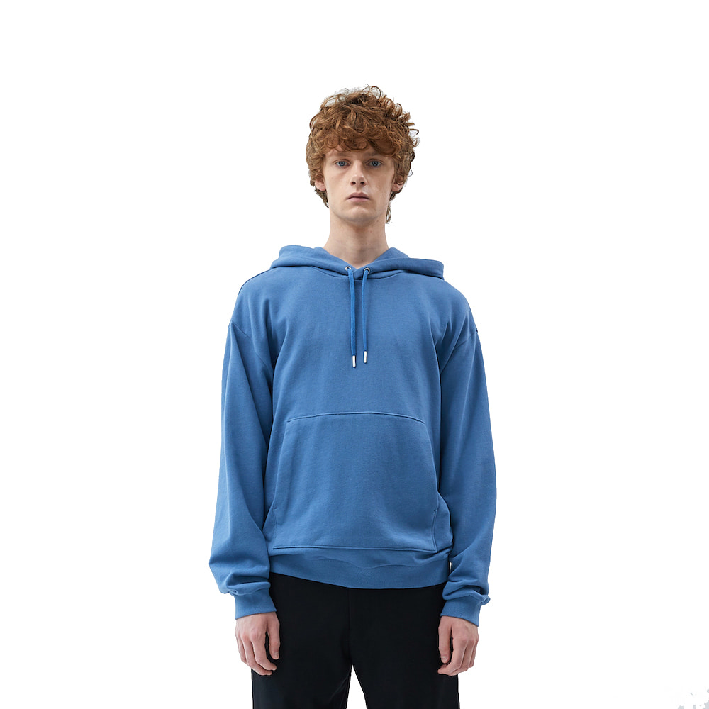 에이카화이트 FINEST COTTON HOODIE_Blue stone